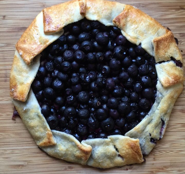 Cream Cheese Blueberry Galette
