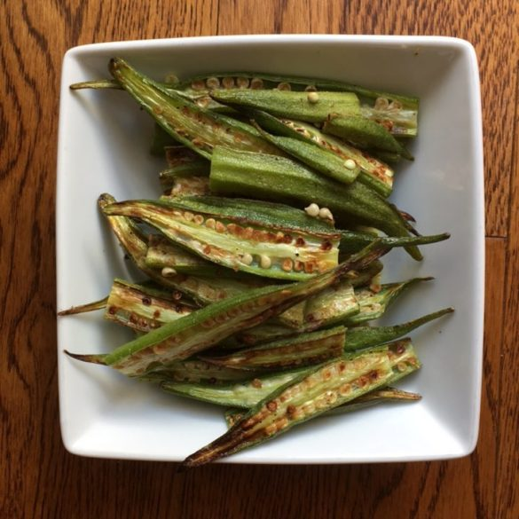 New orleans food shannon mangerchine roasted okra forumfinder Image collections